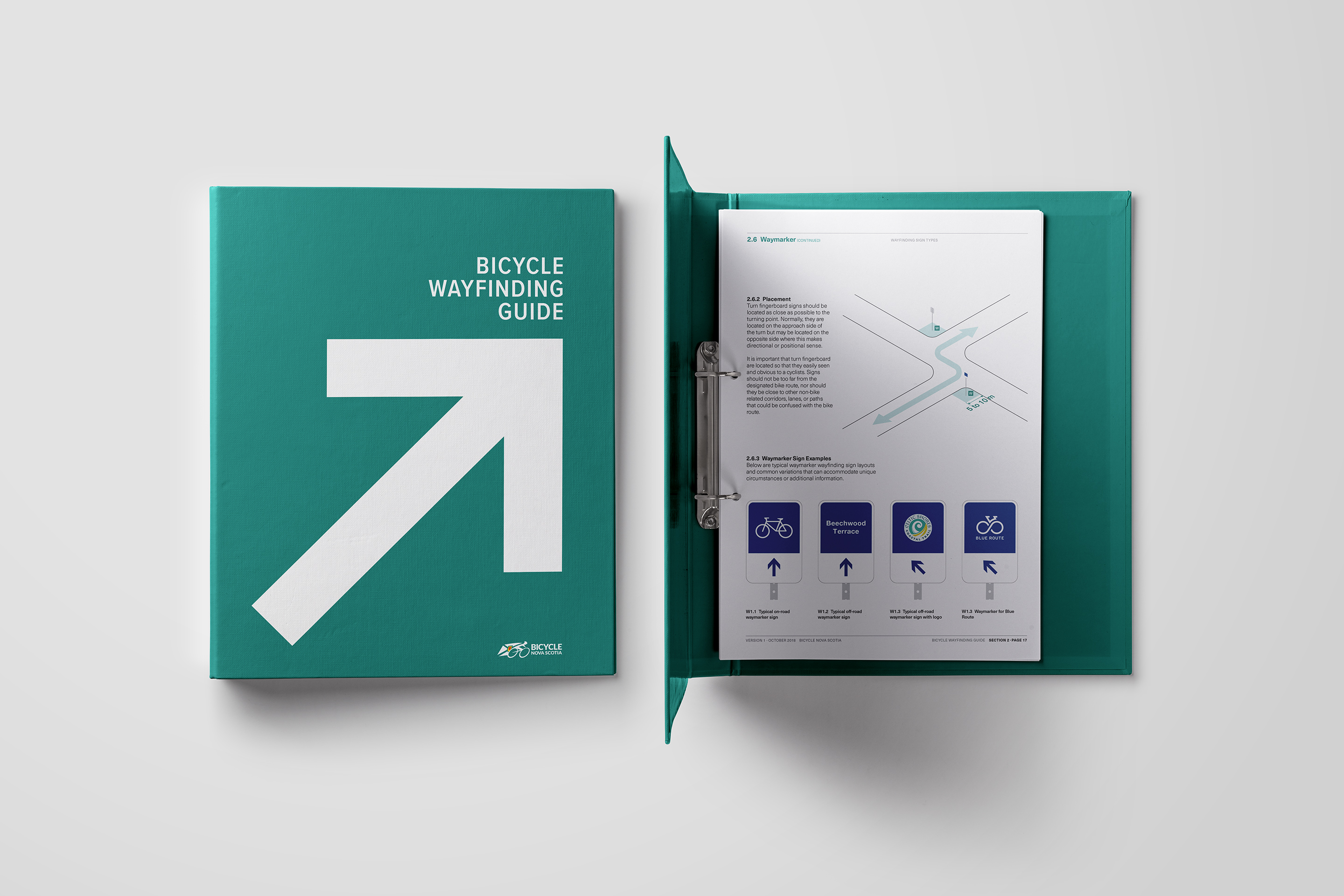 Bicycle Wayfinding System and Guidebook